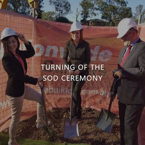Turning of the sod ceremony