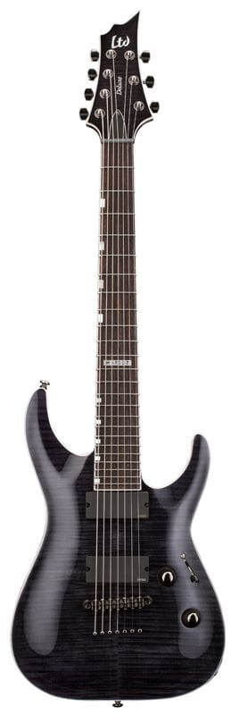LH-1007STBLK: LTD 7 STRING NO TREM STBLK EMG PICKUPS