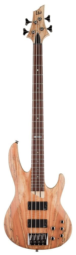 LB-204SMNS: LTD B-204 SPALTED MAPLE 4 STRING BASS