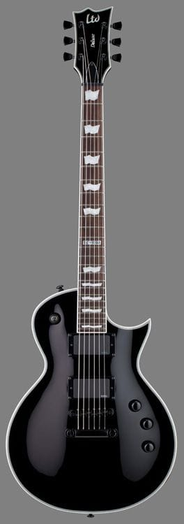 LEC-1000SBLK: LTD EC-1000 BLACK HARDWARE WITH PEARLOID INLAYS