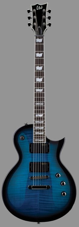 LEC-330FMSTBSB: LTD EC-330FM FLAME TOP SEE THRU BLUE SUNBURST