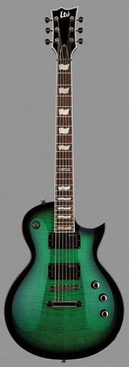 LEC-330FMSTGSB: LTD EC-330FM FLAME TOP SEE THRU GREEN SUNBURST