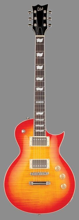 LTD EC-256FM ECLIPSE FLAME TOP CHERRY SUNBURST