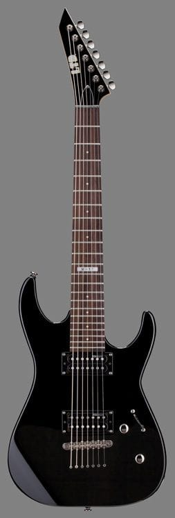 LM-17BLK: LTD M-17 7 STRING ELEC GTR BLACK-NO BAG