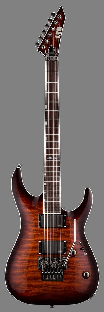 LMH-350FRDBSB: LTD MH-350 DARK BROWN SUNBURST FLOYD ROSE