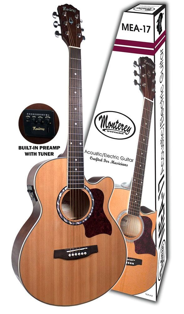 MEA-17N: ACOUSTIC/ELECTRIC GTR NATURAL TOP