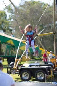 Bungee Trampolines are for kids 4 years and older!