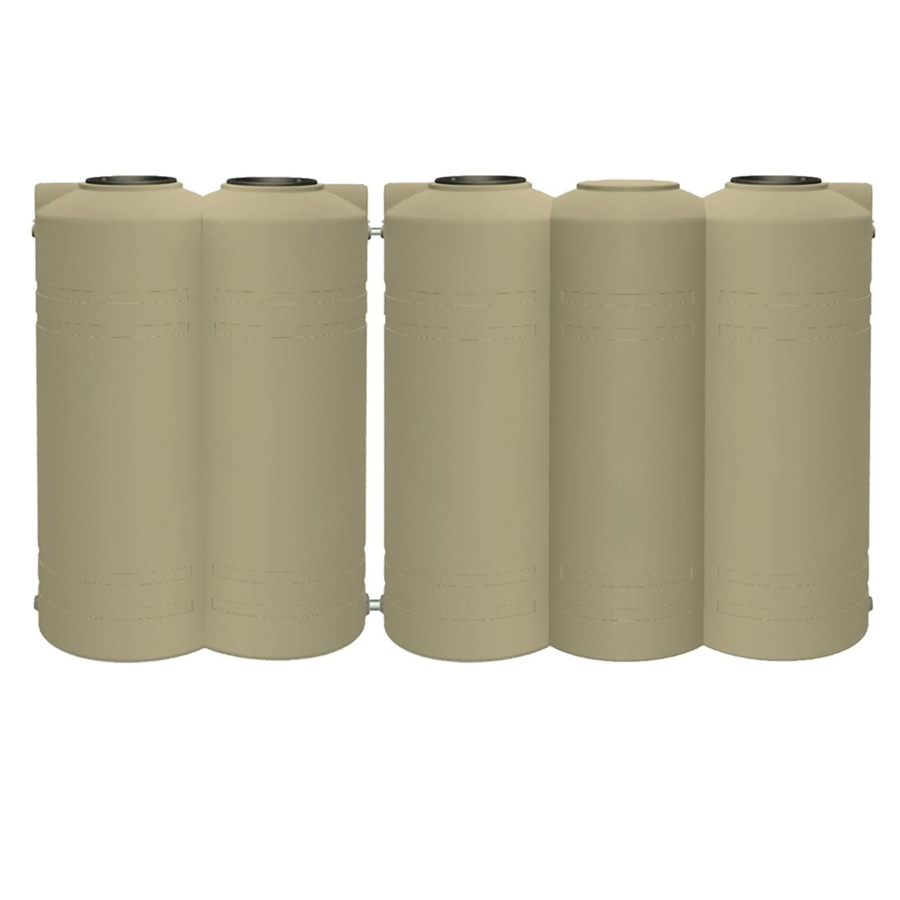 5000 Litre Slim - Slender in line 5 Barrel Straight Wall Poly Tank