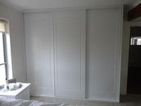 framed colonial sliding doors