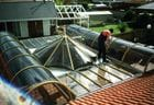 Taylors Lakes - Barrel vault and circular Polycarbonate roof over outdoor entertainment area
