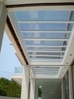 Caulfield - An internal view of the closed single sliding skillion style retractable roof