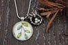 Teesh - Birds Nest Glass Pendant Necklace