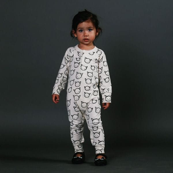 Rock Your Baby - Meow Print Playsuit