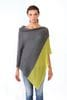 Wooden Ships - Colourblock Poncho - Gunmetal/Extra Virgin