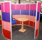 Perspex Frost was also chosen for its excellent product qualities, including its unique anti finger mark finish which made it ideal for high traffic areas such as office stations.