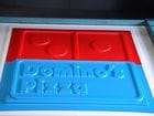 vacuumed form Domino sign