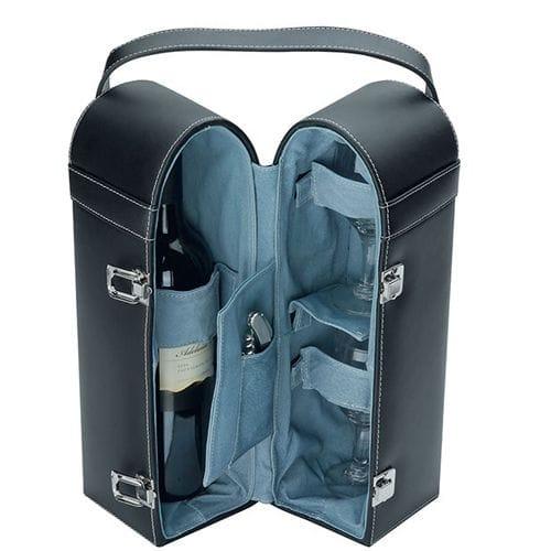 Split Leather Wine Carrier