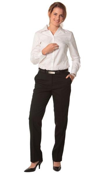 Women's Wool Blend Stretch Slim Leg Flexi Waist Pants