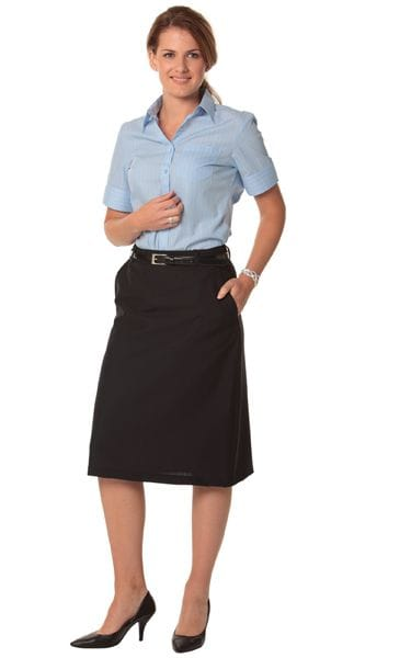 Women's Poly/Viscose Stretch Twill Flexi Waist A-line Utility Lined Skirt
