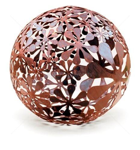 Decorative laser cut metal sculpture from entanglements
