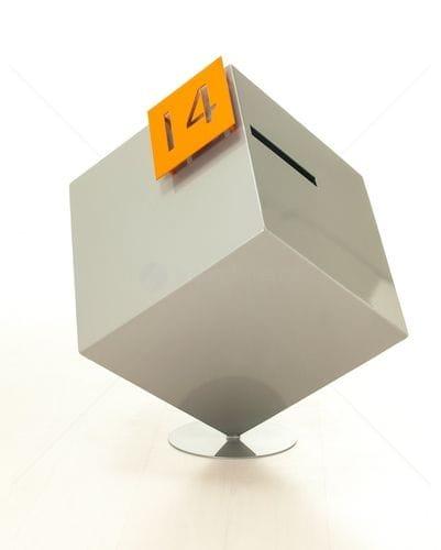 Entanglements Laser Cut Decorative Screen Cube Letterbox
