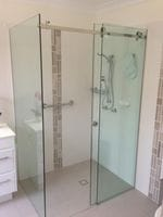 Opto Frameless Sliding Door Shower Screen. Elegant and Sleek