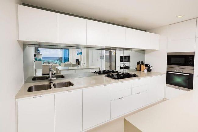 White Kitchen Mirror Splashback unique white kitchen mirror splashback enhance your space with