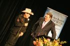 Molly Meldrum getting interviewed by Coxy
