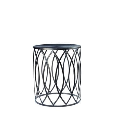 furniture living side tables martini side table pewter