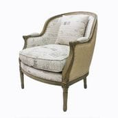 Lee Lee Chair - Oak with Toile/Hessian