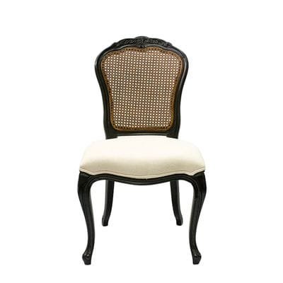 furniture dining dining chairs dijon dining chair black with rattan ...