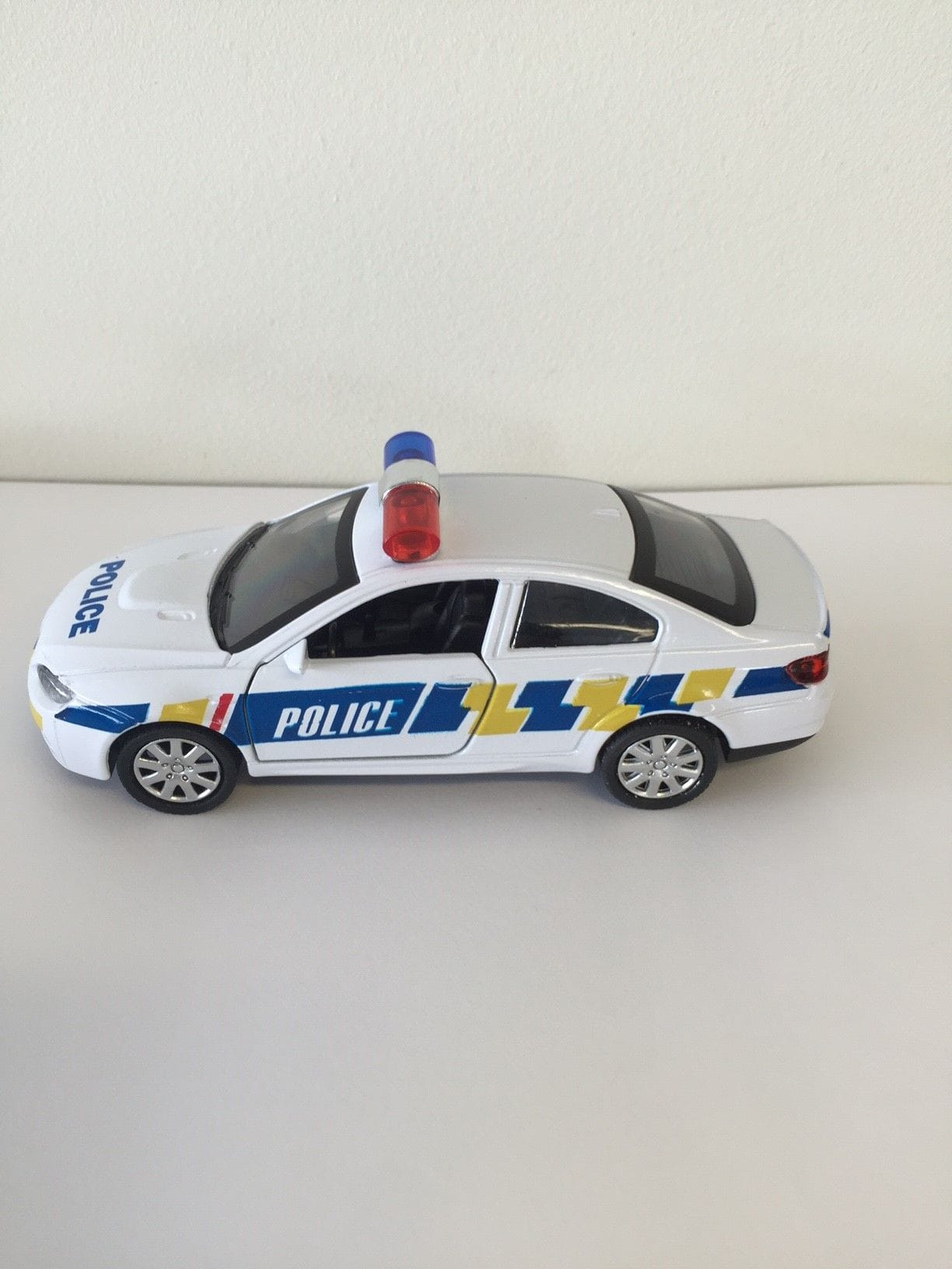 Blue Light Police Car