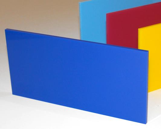A4 Acrylic Solid Blue Cast Sheet 210 x 297 x 3mm Gloss blue