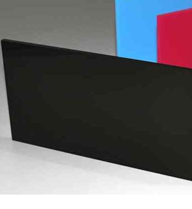 Acrylic Glossy Black Cast Sheet 1000 x 1000mm x 3mm thick high Glossy Black Sheet