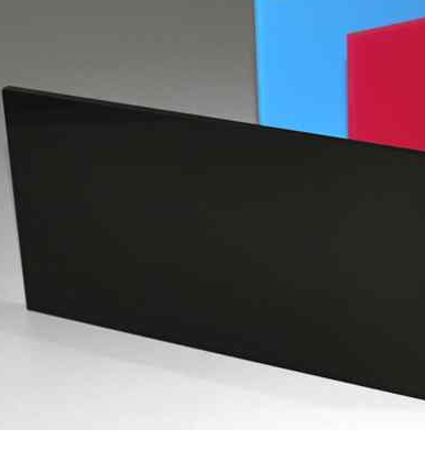 Acrylic Glossy Black Cast Sheet 1000 x 1000mm x 3mm thick high Glossy Black Sheet