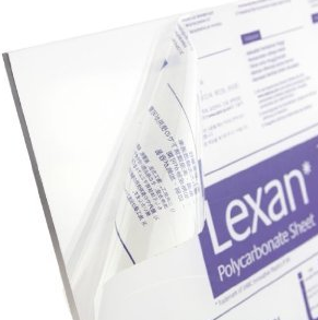 Lexan Polycarbonate Clear Sheet 1220 x 2440 x 4.5mm thick.