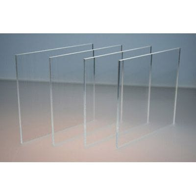 Pack of 2 A4 size Acrylic Clear CAST 210 x 297 x 3mm Cast Sheet.Crystal Clear