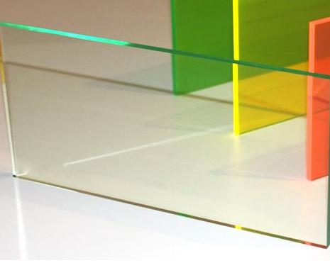 Acrylic CAST Glass Effect Tint 1220 x 610 x 3mm Green Edge Sheet Glass Look