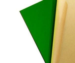 Acrylic A3 420 x 297 x 3mm Solid Glossy Green CAST Sheet