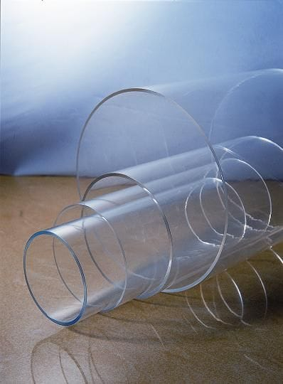 Acrylic Clear Extruded Tube OD75mm x 3mm x 2M long Clear Tubing