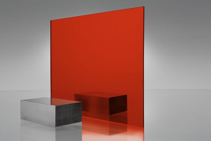 ***New A3 420x297x2mm Acrylic RED Mirror Sheet Violet Mirror Single Side CAST Sheet New***