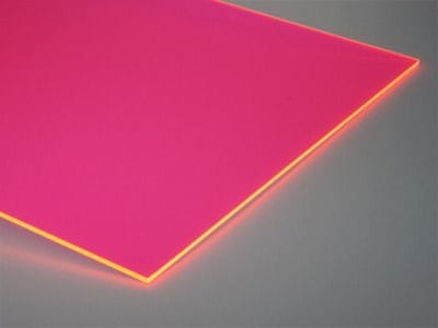 Acrylic A4 Size 210x279x3mm Fluorescent Pink UV Stable Display Neon Pink