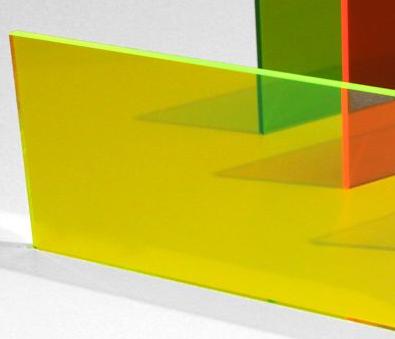 A4 Acrylic Fluorescent Green 210x297x3mm CAST SHEET UV Stable Plastic Neon Green