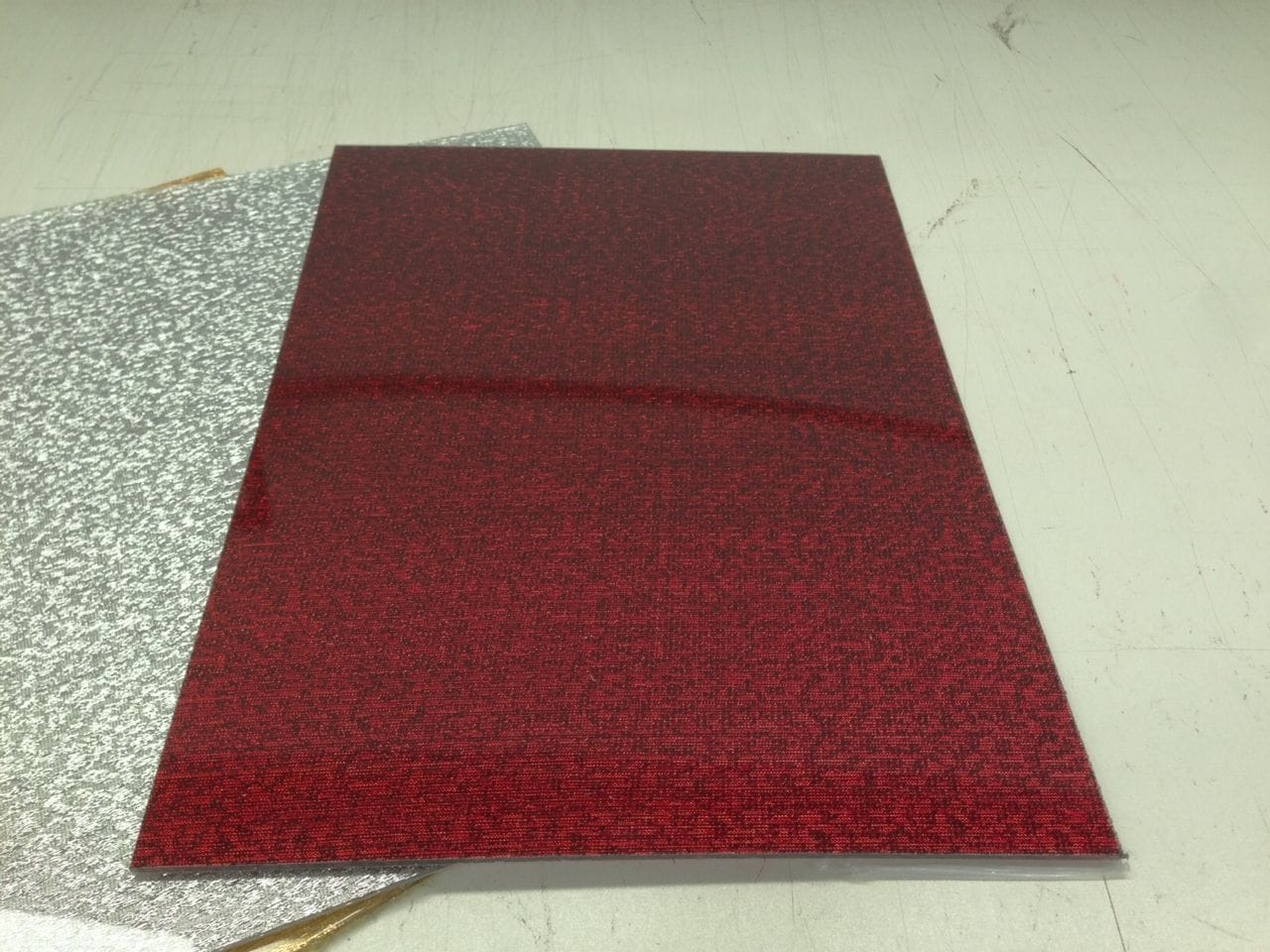 Acrylic RED Fabric A3 420x297x3mm CAST SHEET UV Stable NEW! 372 Exclusivestock