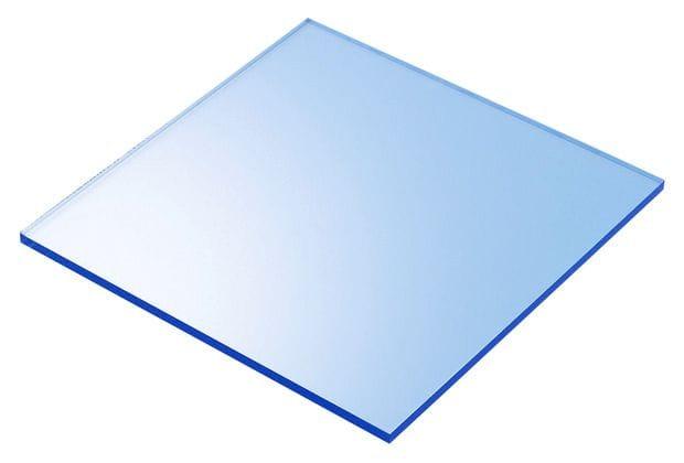Acrylic Fluorescent Blue 300x600x3mm CAST Sheet UV Resist