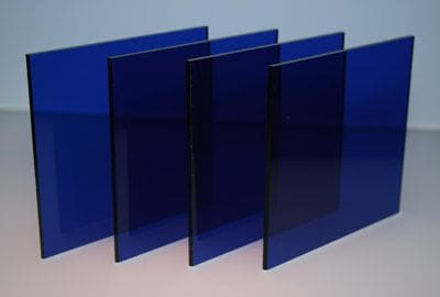 Acrylic A4 210 x 297 x 3mm Transparent Blue CAST Sheet Blue Tint