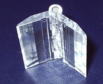 Acrylic Clear Hinges 25mm wide pack of 10pcs