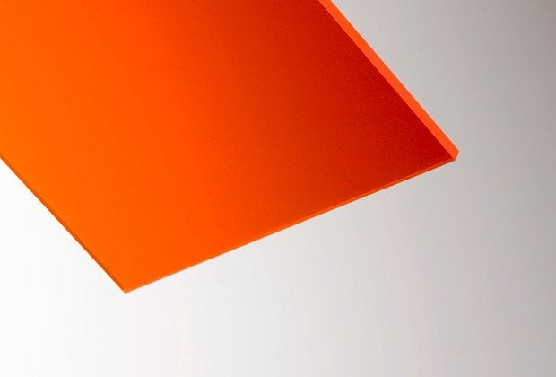 Acrylic Fluorescent Orange Sheet A4 210x297x3mm