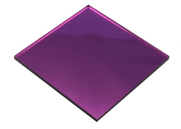ACRYLIC Purple Mirror Sheet 300 x 600 x 2mm