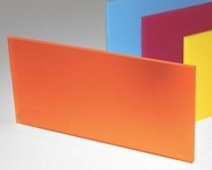Acrylic Frosted Autumn Orange Sheet 300 x 600 x 3mm